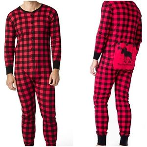 The Little Blue House Trailing Behind Plaid Onesie